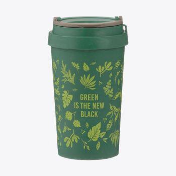 Typhoon wheat fiber travel mug Green Is The New Black 380ml