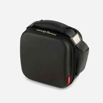 Valira Satin square cooler bag black with 2 boxes 750ml en 500ml