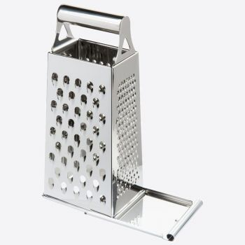 Westmark Quattro four sided grater with valve in stainless steel 11.5x8.2x26.4cm