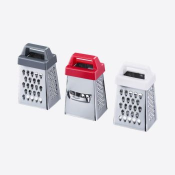 Westmark stainless steel four sided grater red; white or black 3.7x2.8x7cm (18pcs/disp.)