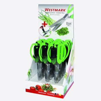 Westmark herb scissors in plastic and stainless steel green 20x7.6x1.9cm (12pcs/disp.)