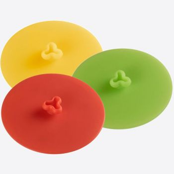 Westmark silicone glasslid red; green or yellow ø 10cm (6 ass.)
