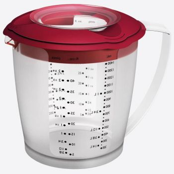 Westmark Helena plastic measuring jug with lid red 1.4L