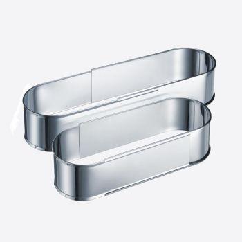 Westmark stainless steel adjustable oval cake mold 27 tot 40cm