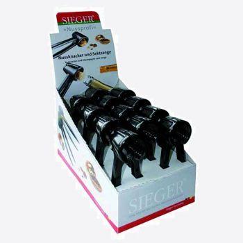Westmark Nussprofi zinc die-cast nutcracker black 18x7.8x5.8cm (12pcs/disp.)