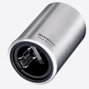Westmark Push & Pull krookkurkopener uit aluminium en kunststof Ø 5.3cm H 8cm (12st./disp.)