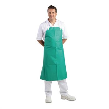 Whites PVC nylon halterschort groen