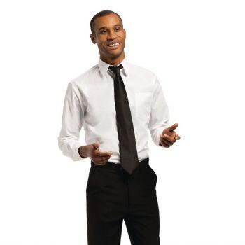 Uniform Works unisex overhemd lange mouw wit S