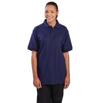 Unisex poloshirt donkerblauw XL