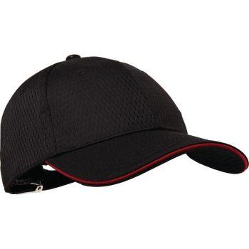 Chef Works Cool Vent baseball cap zwart en rood