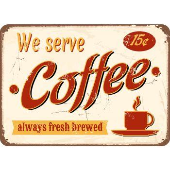 Papillon placemat/afdruipmat/keukenmat we serve coffee 50x39cm per stuk
