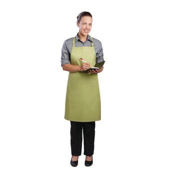 Chef Works halterschort limoen