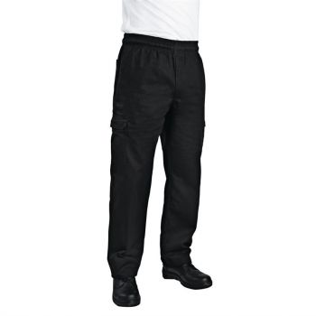 Chef Works unisex slim fit cargo broek zwart XL