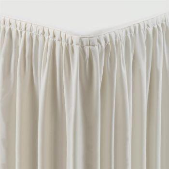 Tafelkleed met rok crème - plissé