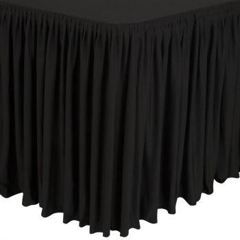 Combi tafelrok plissé zwart