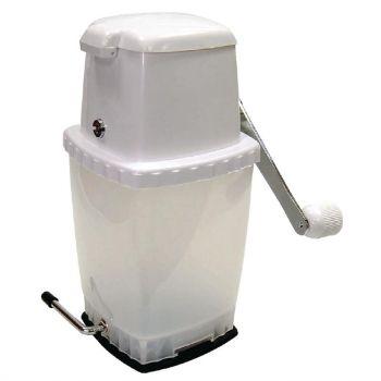 IJscrusher met vacuümbasis wit