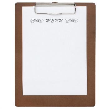 Olympia houten menu klembord A5
