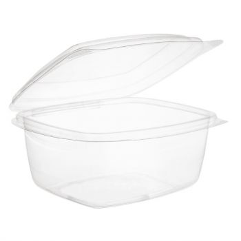 Vegware composteerbare PLA voedseldozen met scharnierdeksel 47.3cl
