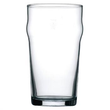 Arcoroc Nonic geharde bierglazen met reliëfbodem