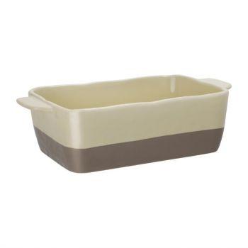 Olympia braadslede van keramiek crème en taupe 2.5L