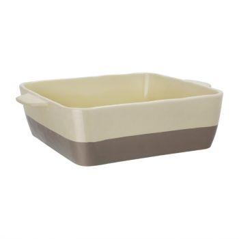 Olympia braadslede van keramiek crème en taupe 4.2L