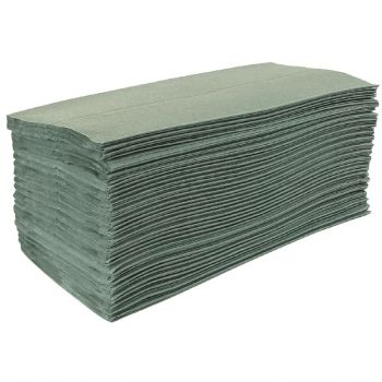 Jantex Z-gevouwen handdoeken 1-laags groen