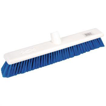 Jantex zachte hygiënische bezem 45cm blauw