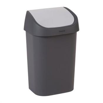 Curver afvalbak met schommeldeksel zwart 25L