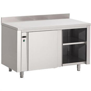 Gastro M RVS warmhoudkast met achteropstand 85x140x70cm
