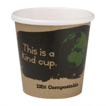 Fiesta Green composteerbare enkelwandige espressobekers 11.3cl