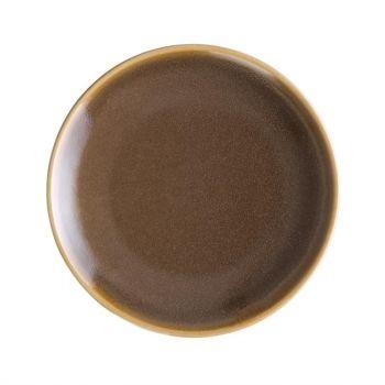 Olympia Kiln ronde coupeborden bruin 17.8cm