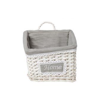 Cosy & Trendy Home Basket Willow White 25x18x16cm