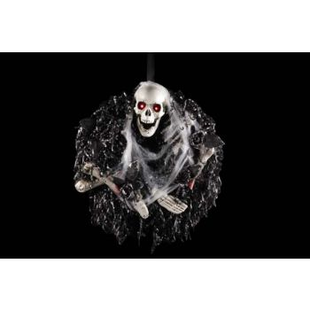 Cosy @ Home Wreath Skull Light And Sound 44x44x12cm