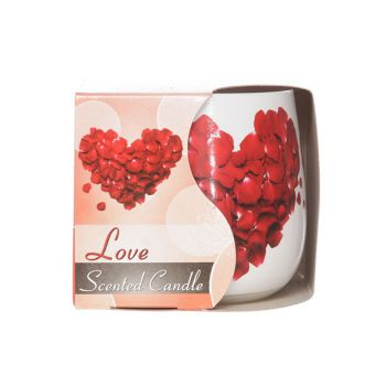 Cosy & Trendy Ct Scented Candle Glass Love