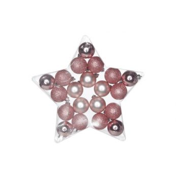 Cosy @ Home Ball Kunststoff Mix Set20 Pink D5cm