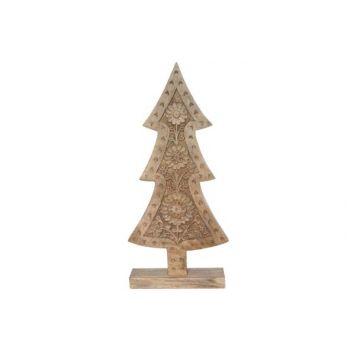 Cosy @ Home Weihnachtsbaum Gravure Natur Holz