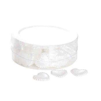 Cosy @ Home Herzen Deco Plastic Weiss 1.5cm