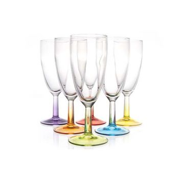 Luminarc Crazy Colors Flute 14 Cl  Set 6 Types Colo