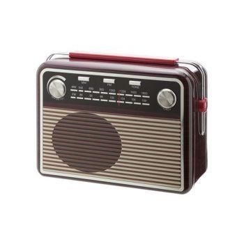 Cosy & Trendy Radio Shape Tin Box 27x19.5x11cm Brown