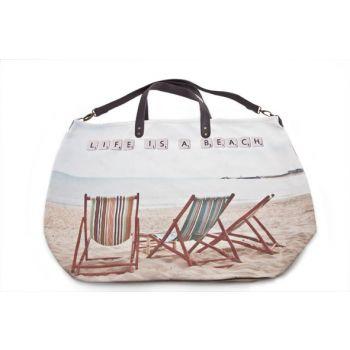 Cosy @ Home Handbag 'life Is A Beach' 48x36x44cm