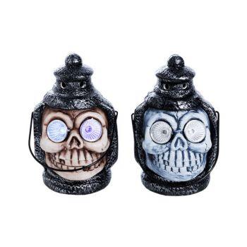 Cosy @ Home Lantern Totenkopf Led Augen 2 Types Keramik