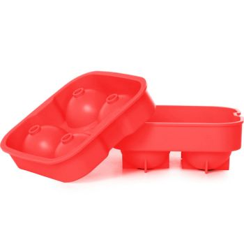 Cosy & Trendy Eiswurfelhalter Ballen Rot 4stk D4.5cm