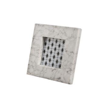 Cosy @ Home Fotorahmen 10x10 Marmor Weiss 17x17cm