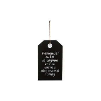 Cosy @ Home Plakat Normale Family Schwarz 18x1x30cm