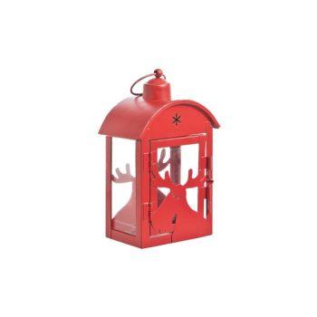 Cosy @ Home Lantern Red Metal 11x7x18cm