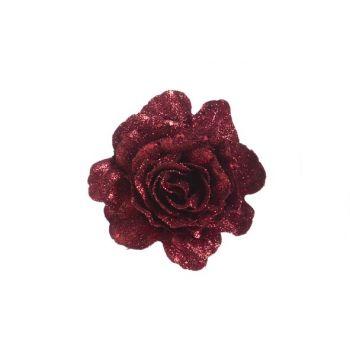 Cosy @ Home Rose Clip Glitzer Cherry D10cm