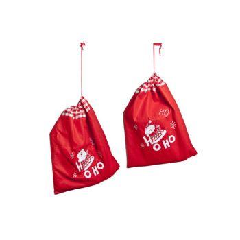 Cosy @ Home Xmas Bag Rot Filz 50x1xh60cm 2 Types