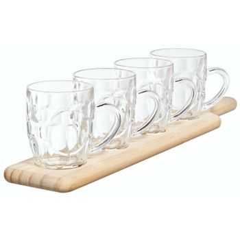 Cosy & Trendy Tasting Set Wooden Tray - 4 Pints 285ml