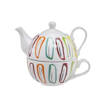Cosy & Trendy Teapot With Cup Deco D11xh14cm