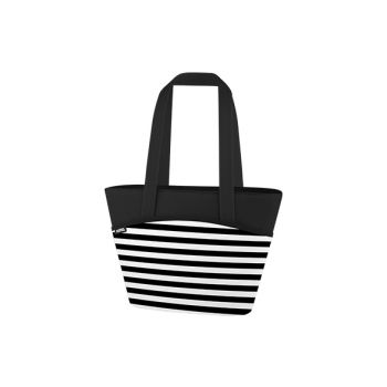 Thermos Black White Stripes 9 Can Lunchtote 7.5l